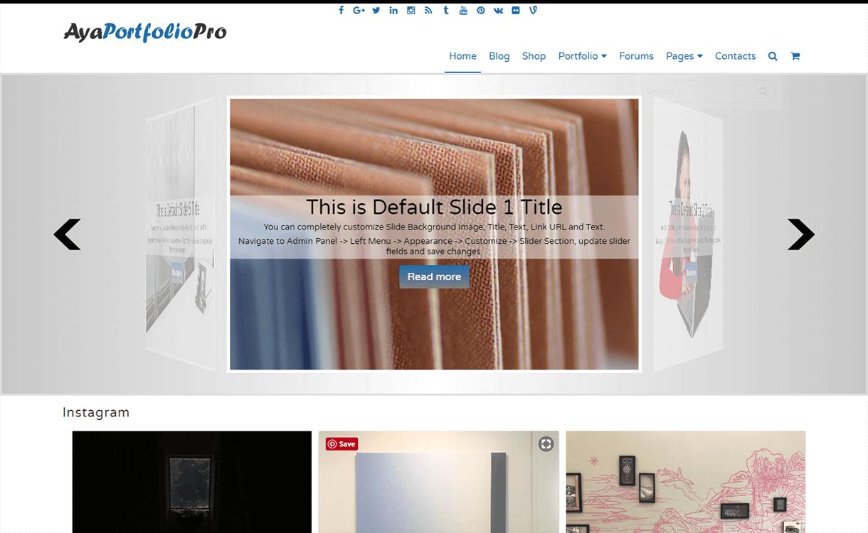 AyaPortfolio-Free WordPress Portfolio Themes