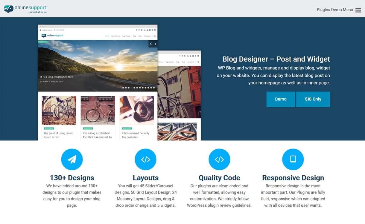 Blog Designer - Widget and Posts Pro - Premium WordPress Blog Manager Plugins