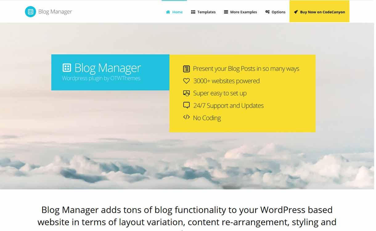 Blog Manager for WordPress - Premium - WordPress Blog Manager Plugins