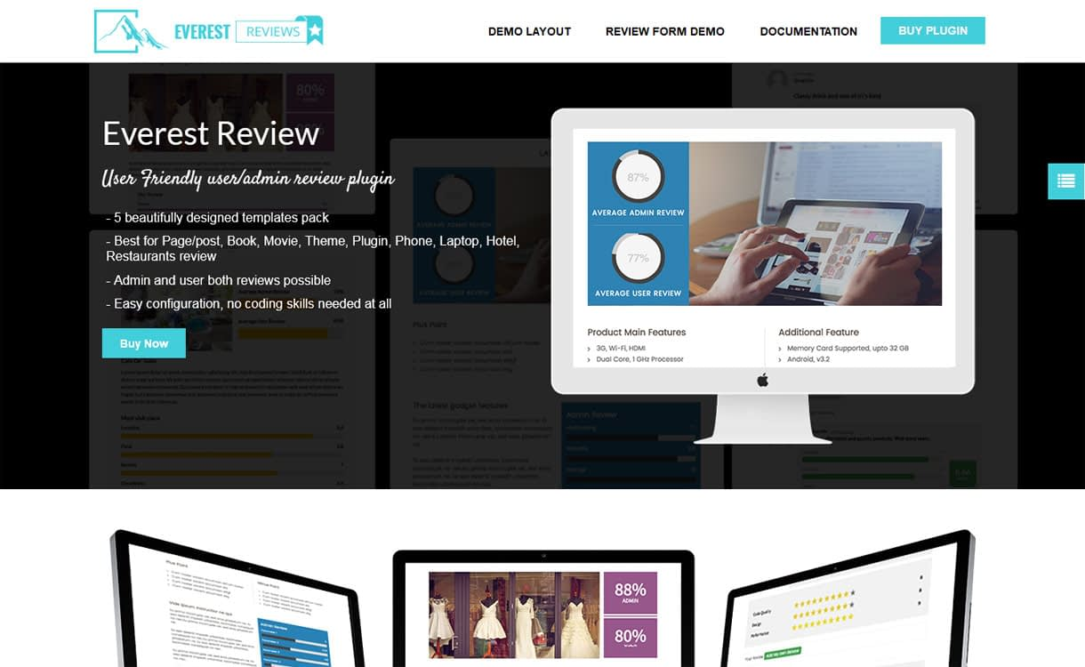 everest review wordpress user admin review plugin - 5+ Best WordPress Page/Post Review Plugins