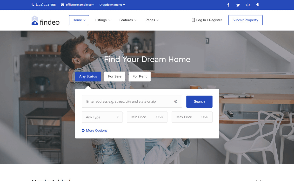 Findeo-Best Free And Premium Real Estate WordPress Themes