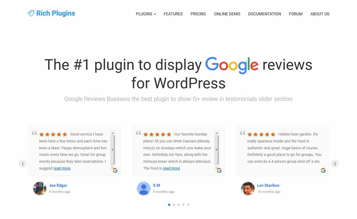 google review business google place business review premium wordpress plugins - 5+ Best WordPress Google Places/Business Review Plugins