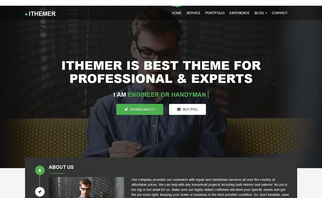 iThemer-Free WordPress Portfolio Themes