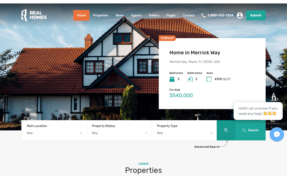 Real Homes-Free & Premium Real Estate WordPress Themes