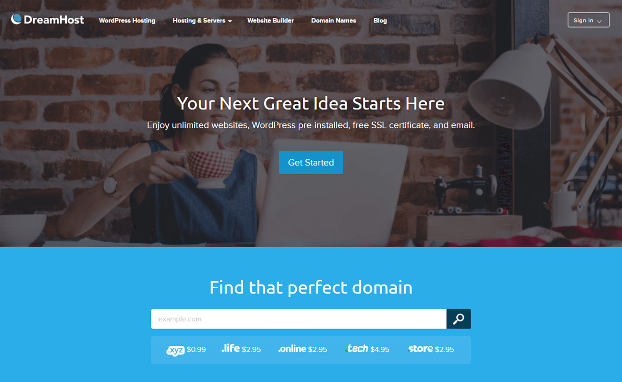 DreamHost-Best WordPress Hosting Services