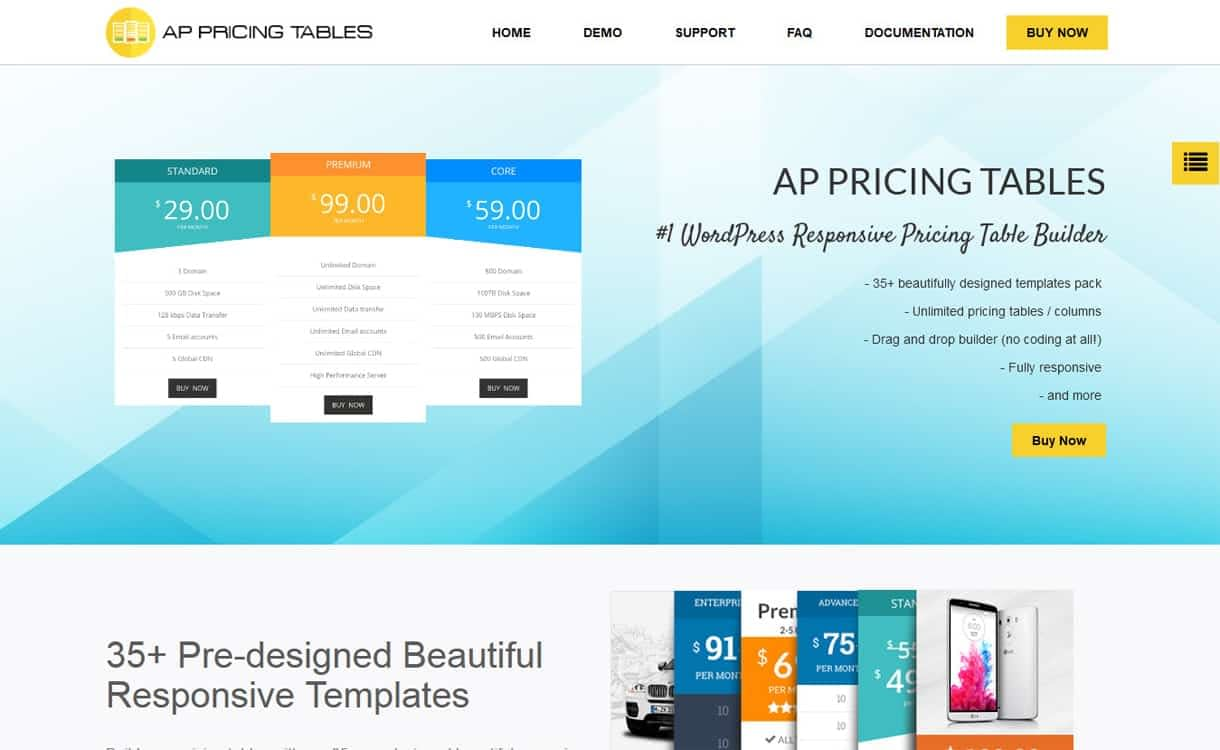 AP Pricing Table - WordPress Pricing Table Plugins