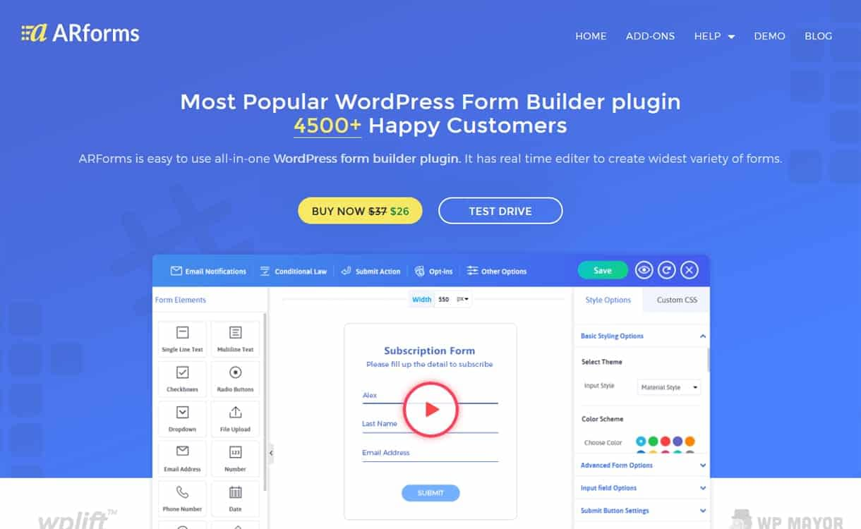 ArForms - Premium WordPress Form Builder Plugins