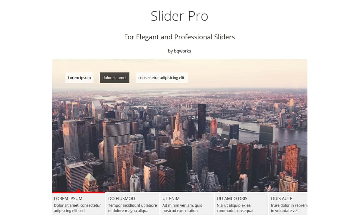 Slider Pro - WordPress Slider Plugins