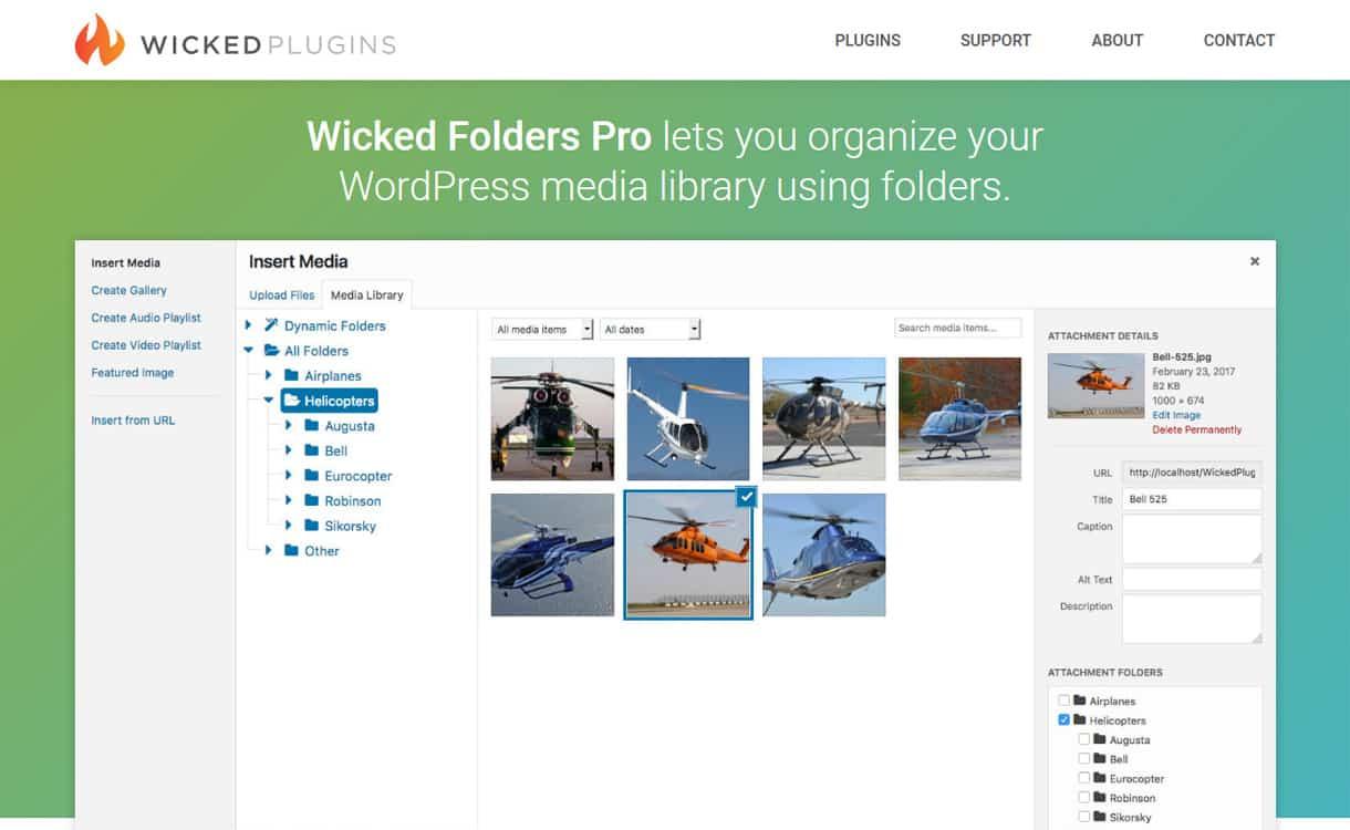 wicked folders pro - 5+ Best WordPress Media Manager Plugins