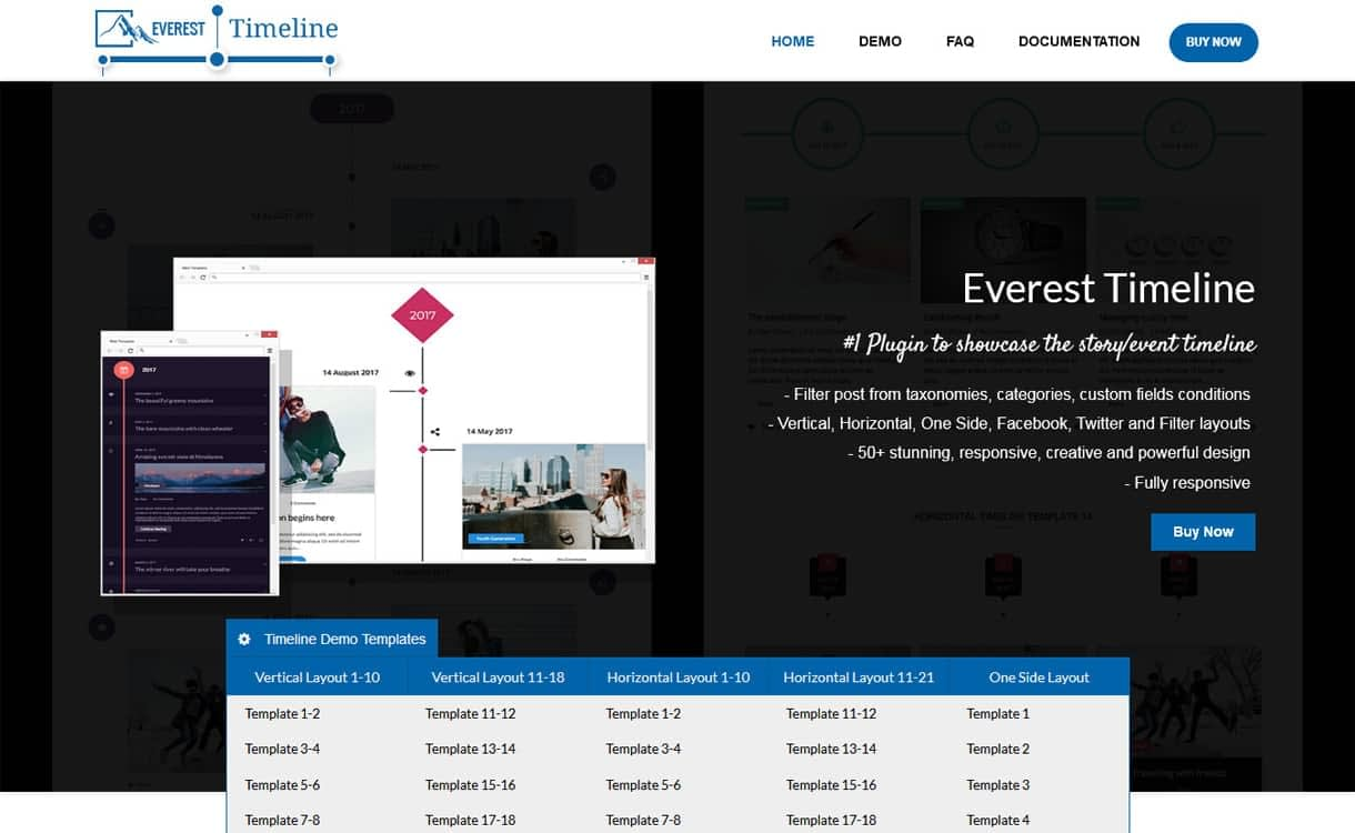 everest timeline - 5+ Best Responsive WordPress Timeline Plugins 2019 (How to Add Beautiful Event Timeline in WordPress)