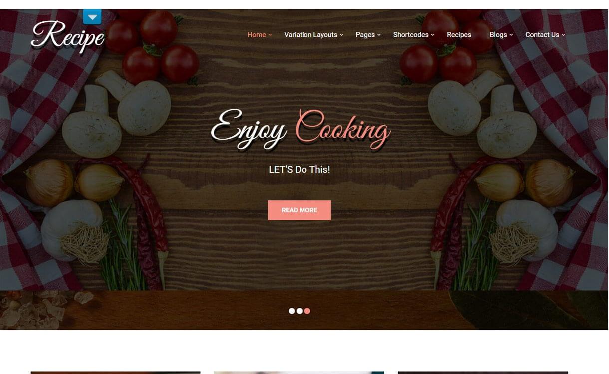recipe lite - 21+ Best Free WordPress Themes April 2018