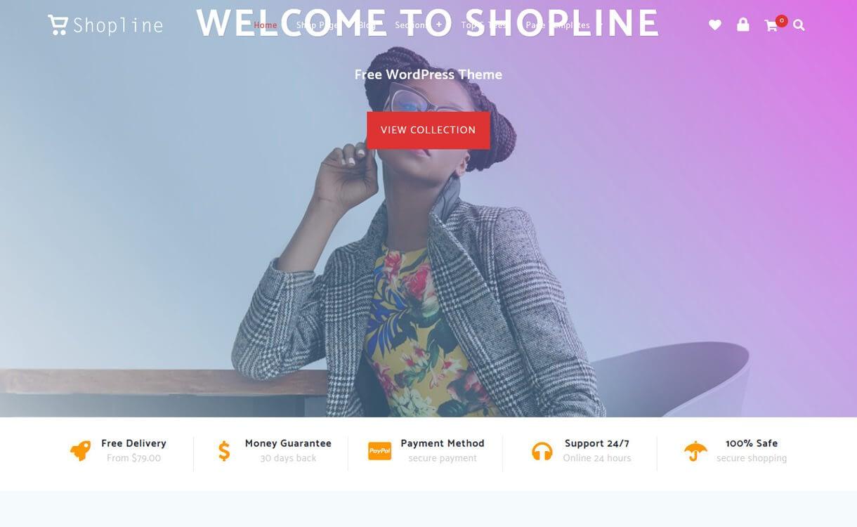 shopline best free wordpress themes march - 21+ Best Free WordPress Themes March 2018