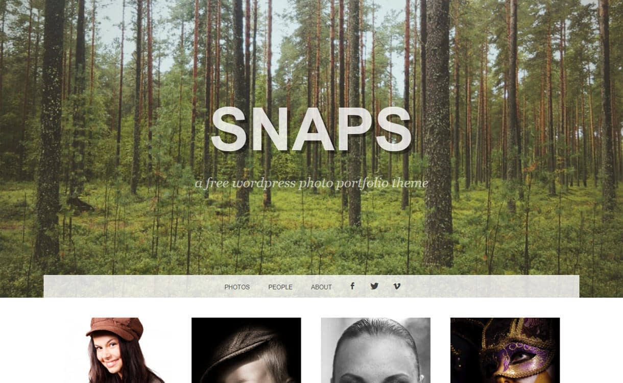 snaps photography wp theme - 30+ Best Free WordPress Photography Themes for 2019