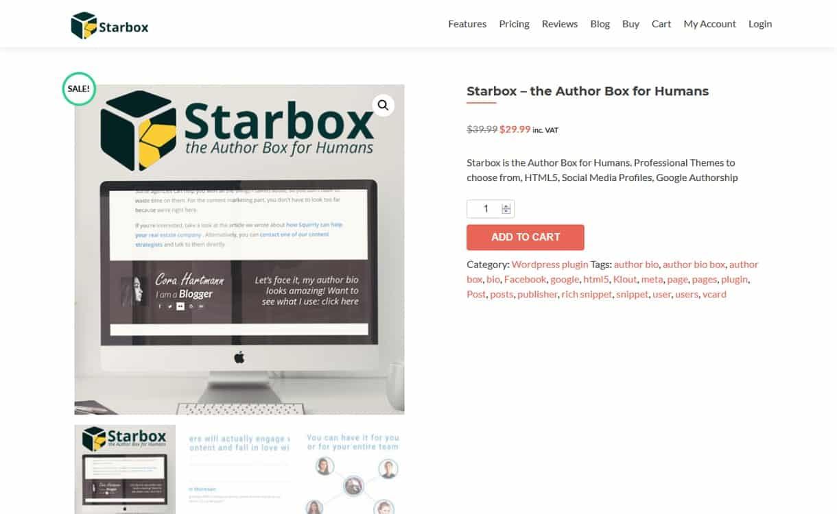 StarBox - WordPress Author Bio Box Plugins