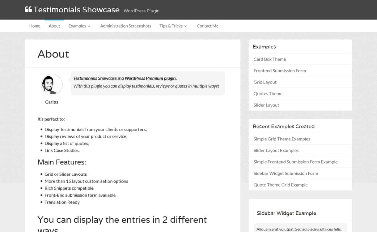 Testimonials Showcase - WordPress Testimonial Plugins