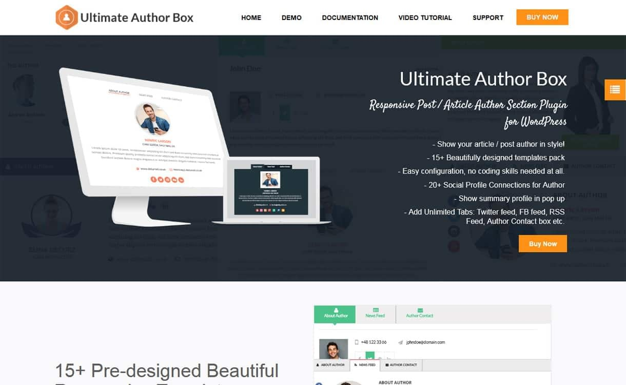 Ultimate Author Box - WordPress Author Bio Box Plugins