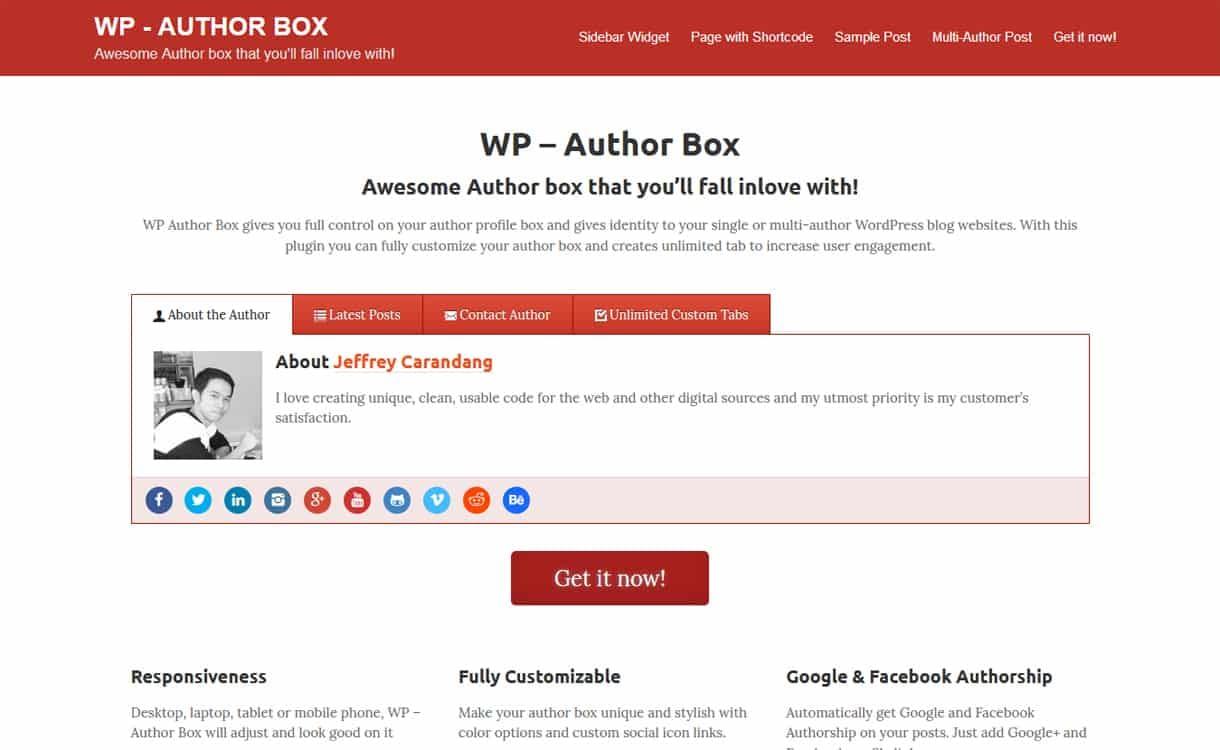 WP Author Box - WordPress Author Bio Box Plugins