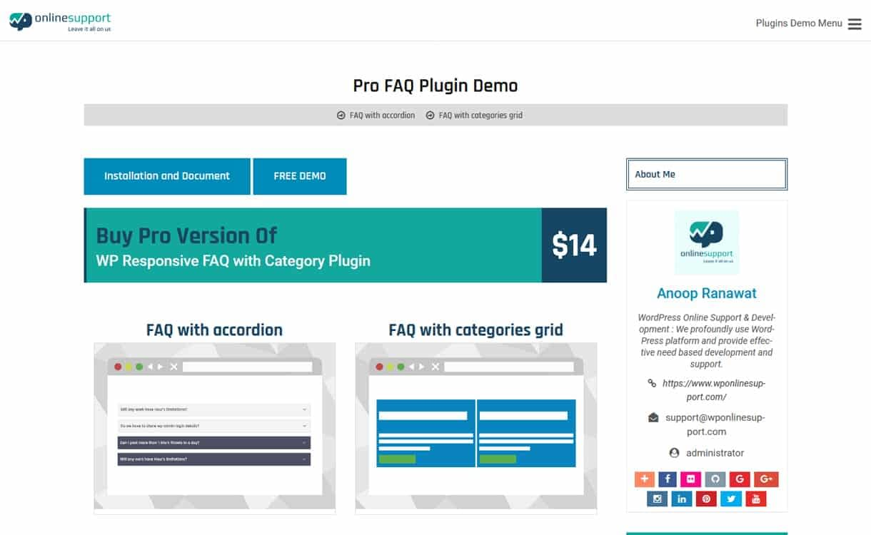 WP FAQ Pro - WordPress FAQ Plugins