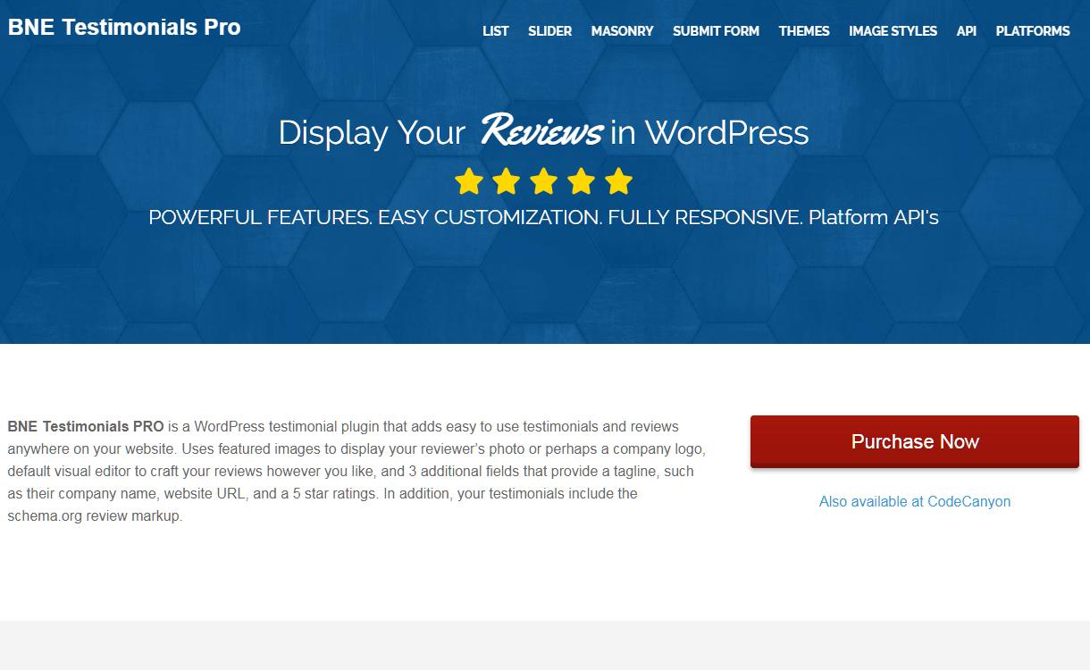 BNE Testimonials Pro - WordPress Testimonial Plugins