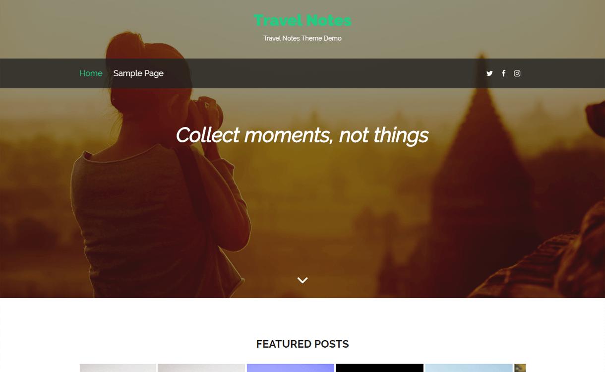 Travel Notes-Best WordPress Travel Blog Themes