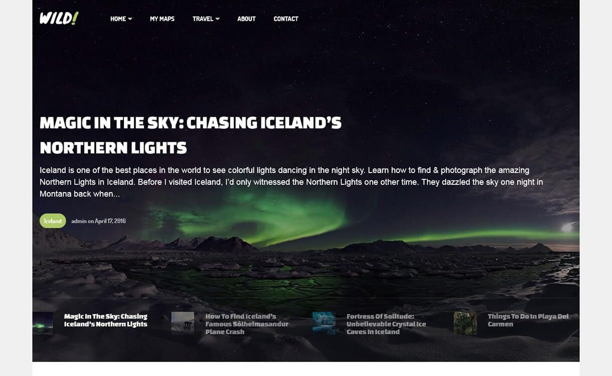 Wild-Personal-Best Travel Blogs WordPress Themes