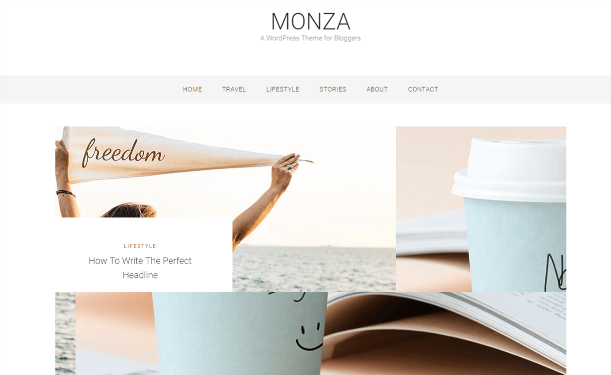 Monza – A WordPress Theme for Bloggers as Smart Object 1 as Smart Object 1 - 21+ Best Free WordPress Themes June 2018