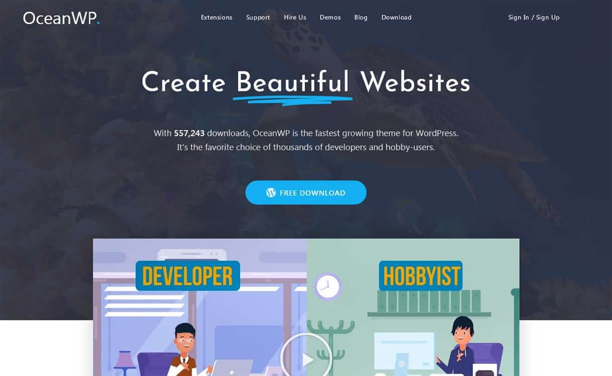 oceanwp - 10+ Best Agency WordPress Themes and Templates (Free)