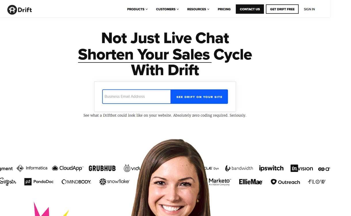 Drift - Best Live ChatBox Software