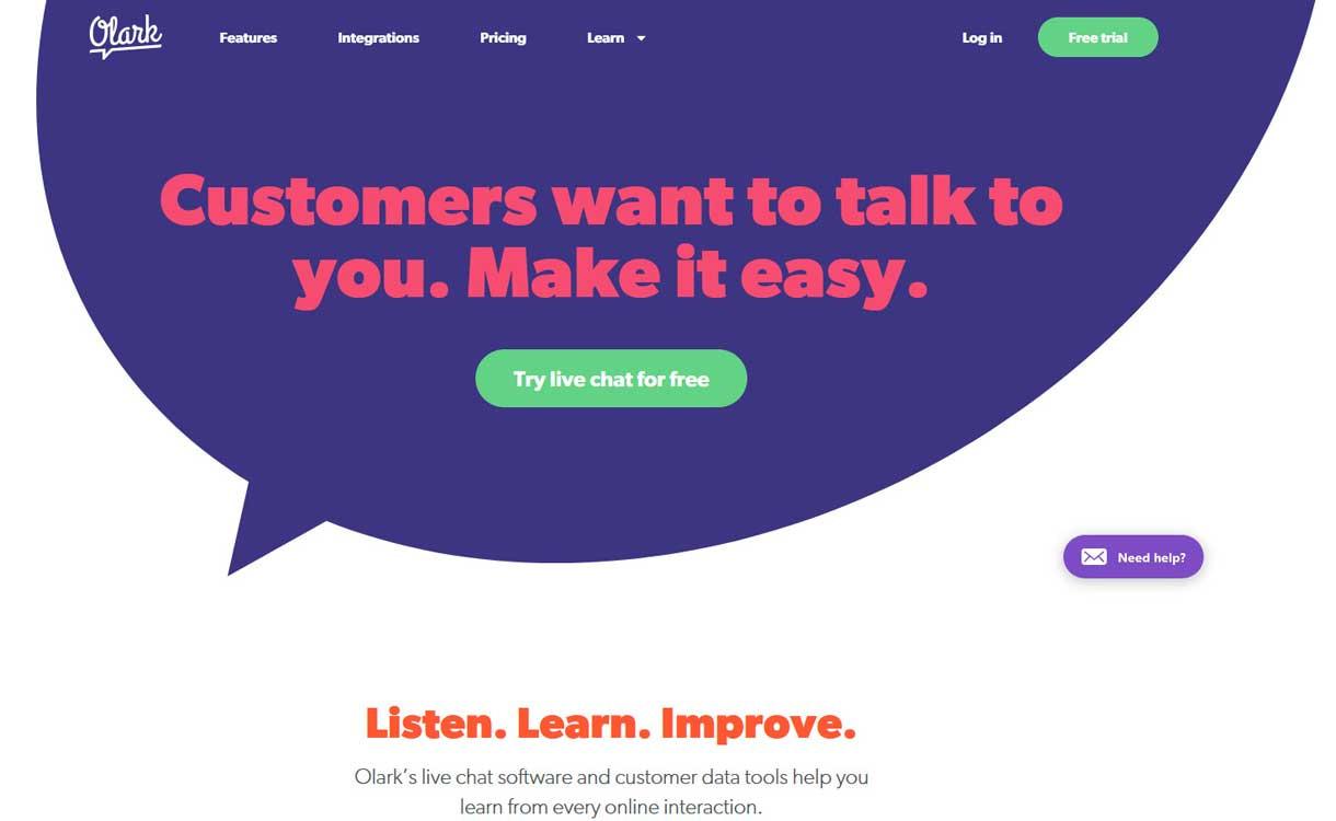 Olark - Best Live ChatBox Software