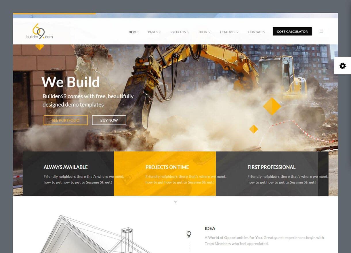 builder69-Best Premium WordPress Construction Company Themes 2018