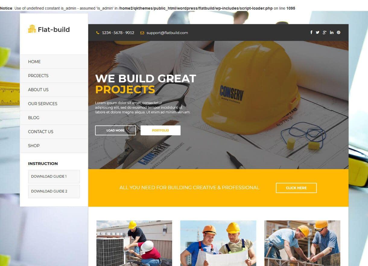 Flatbuild-Best Premium WordPress Construction Company Themes 2018