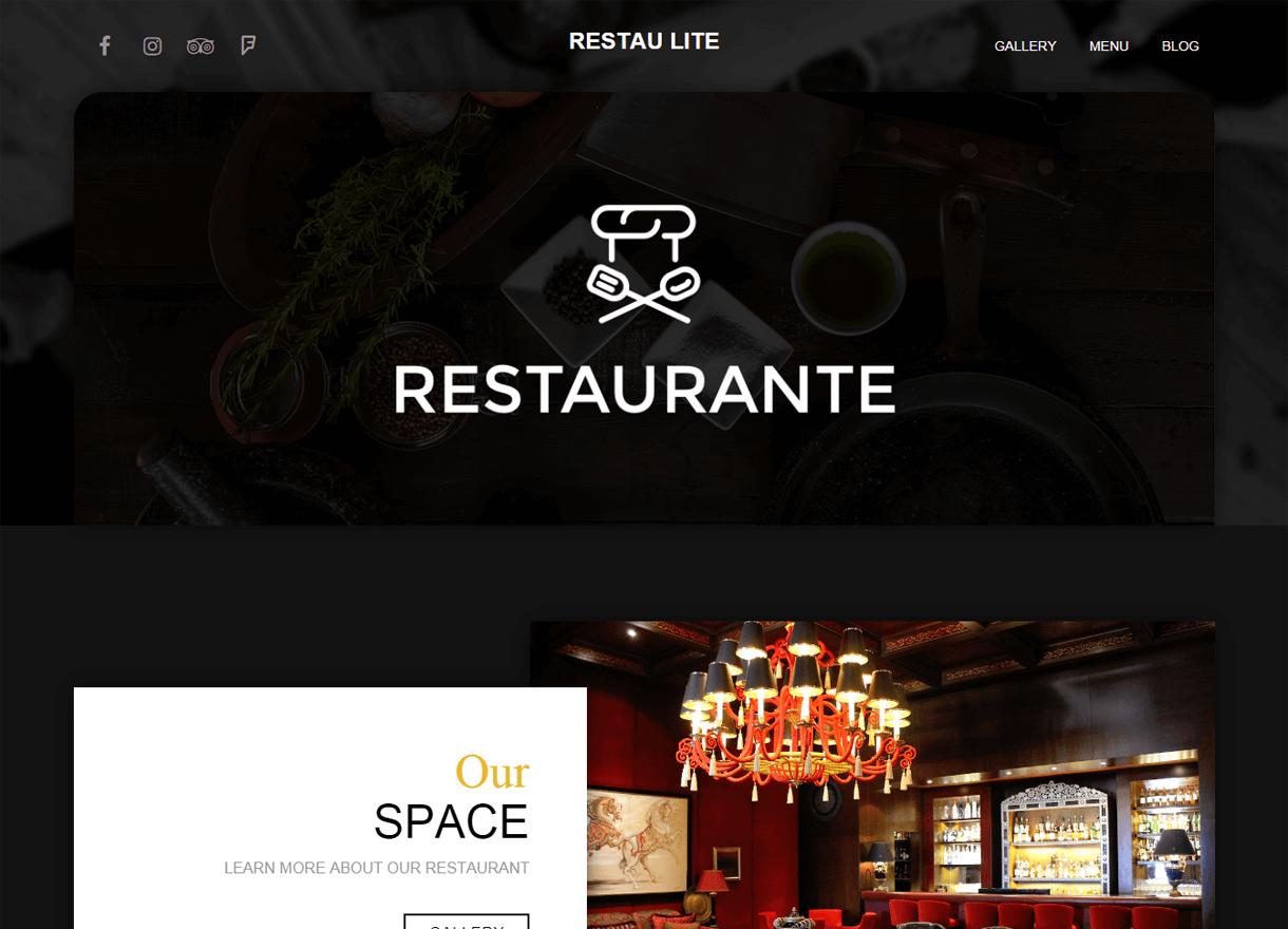 Restau Lite-Best Cafe and Restaurant WordPress Themes
