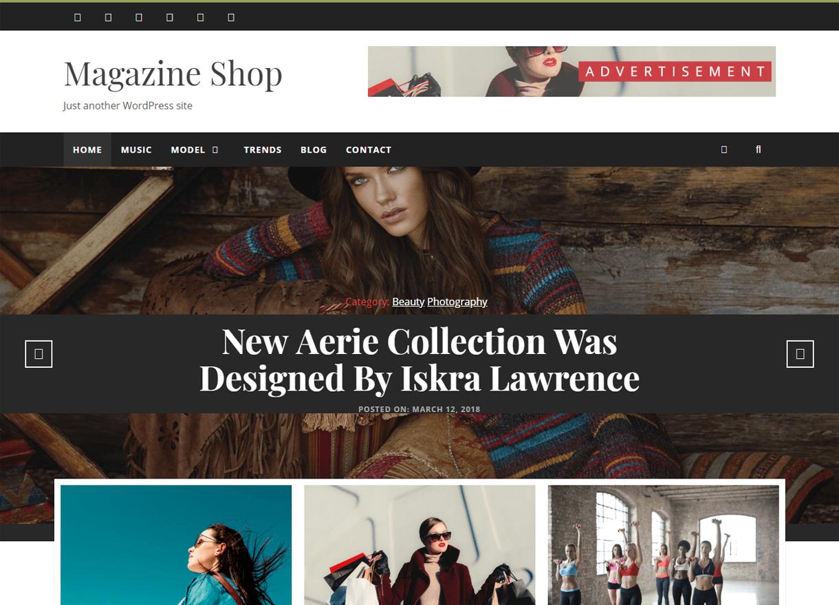 Magazine Shop-Best Free WordPress Themes April 2018