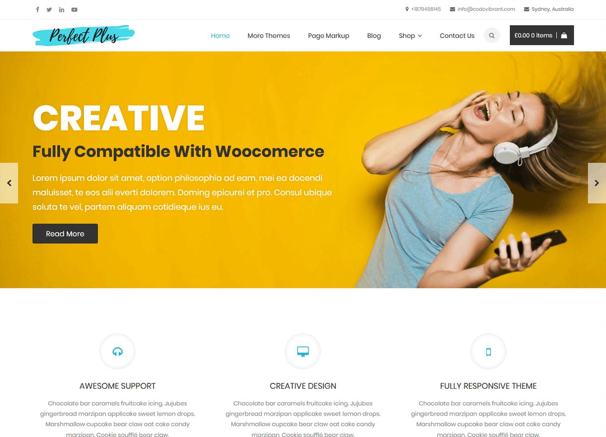 Perfect Plus-Best Free WordPress Themes April 2018
