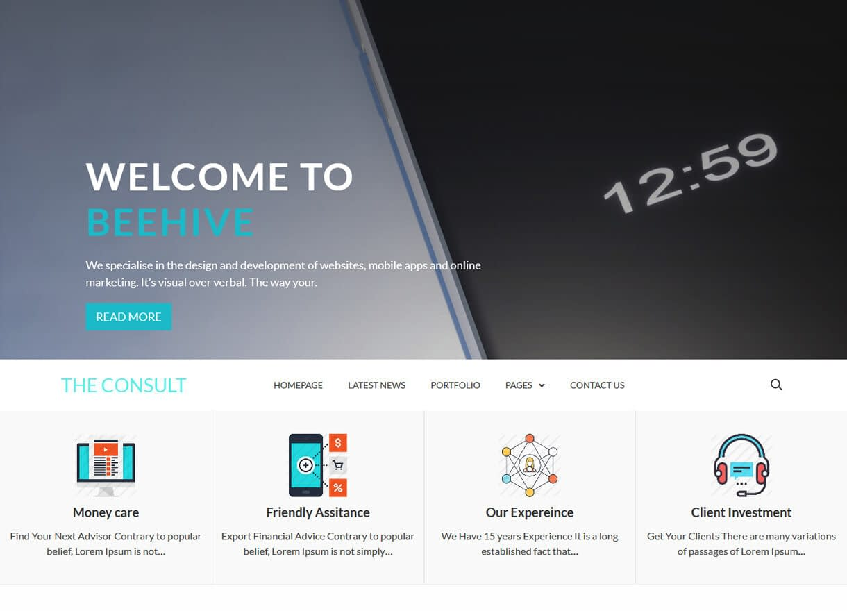 The Consult-Best Free WordPress Themes April 2018