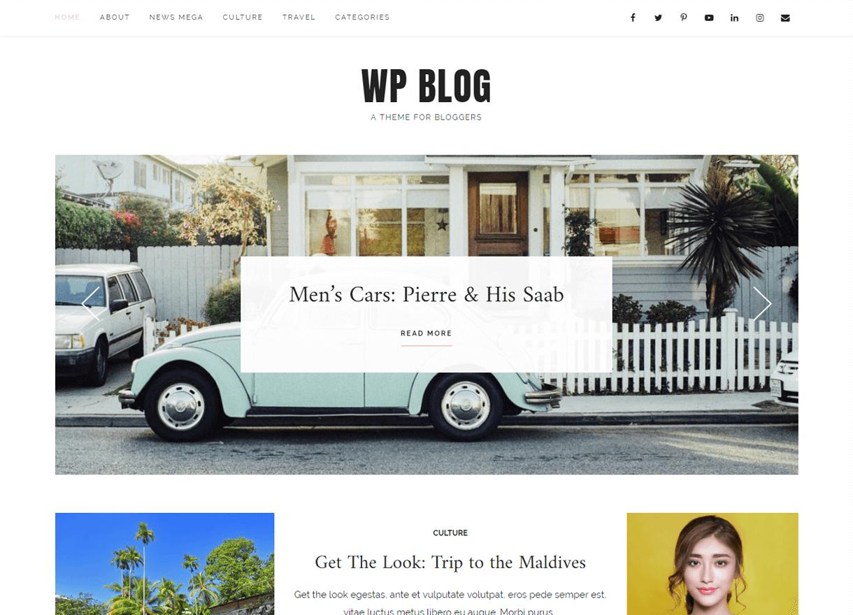 WP Blog-Best Free WordPress Themes April 2018