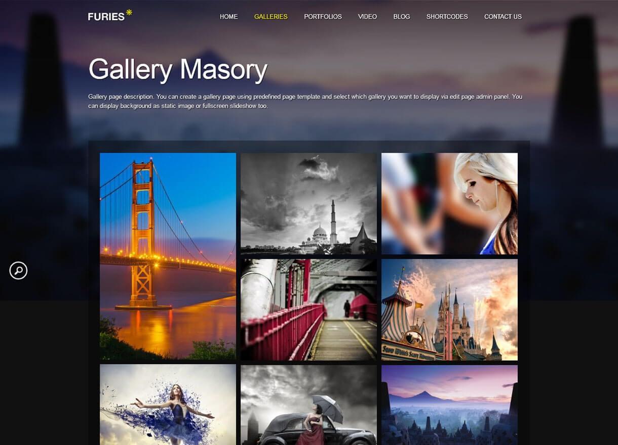 furies premium wordpress photography themes - 30+ Best Premium WordPress Photography Themes 2019