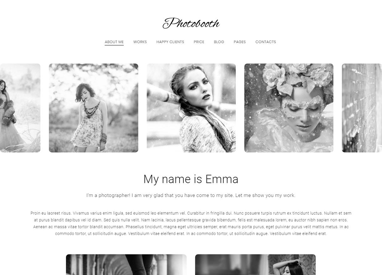 photobooh premium wordpress photography themes - 30+ Best Premium WordPress Photography Themes 2019