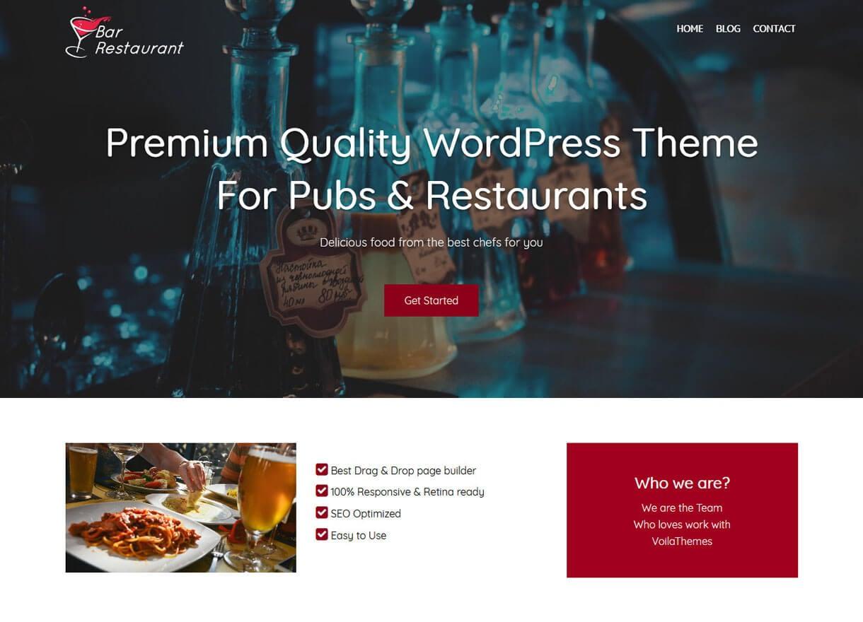Bar Restaurant-Best Cafe and Restaurant WordPress Themes