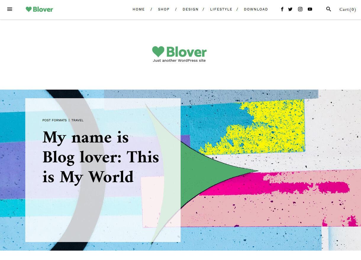 Blover-Best Free WordPress Themes February