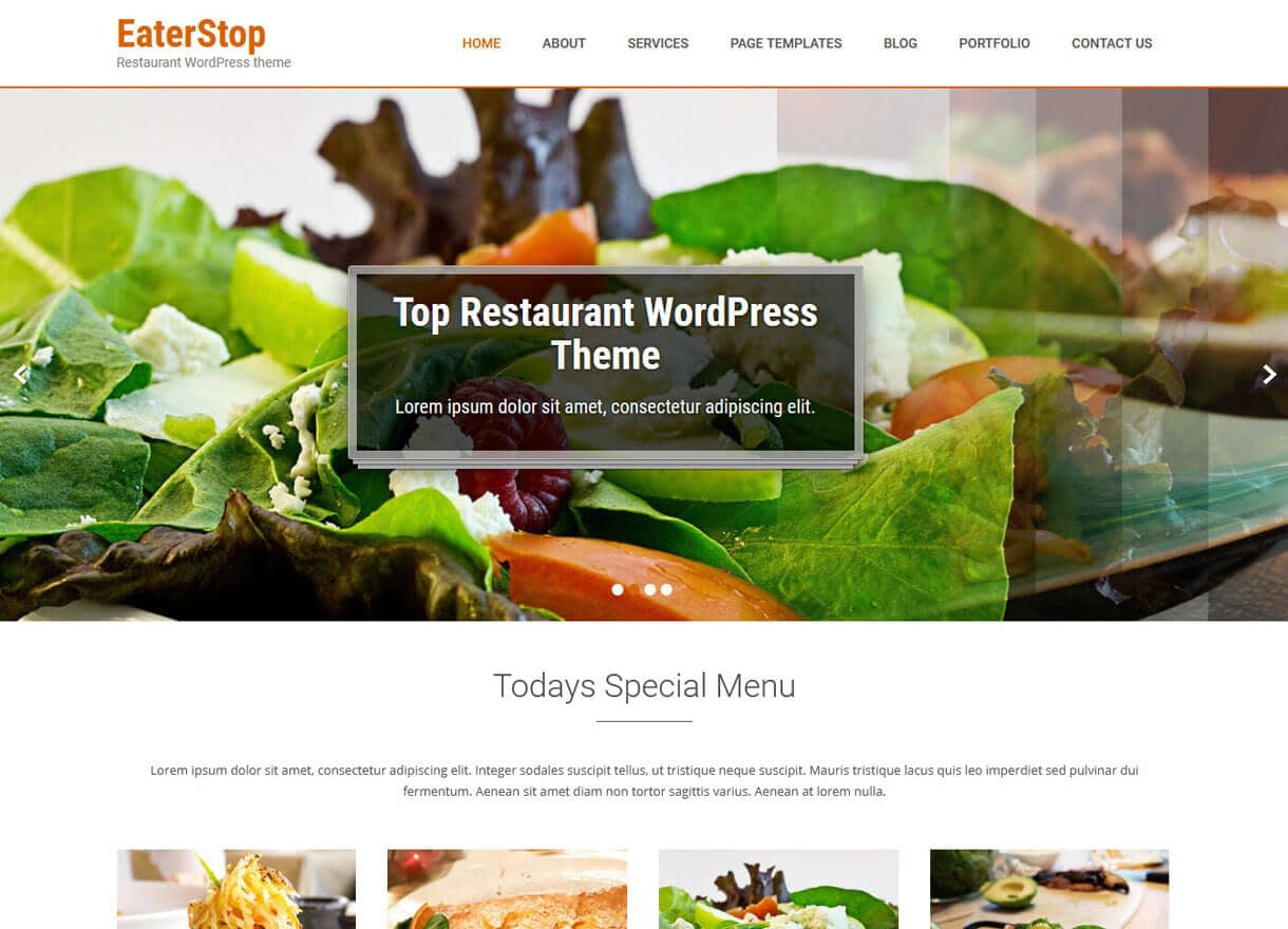 EaterStop Lite-Best Cafe and Restaurant WordPress Themes