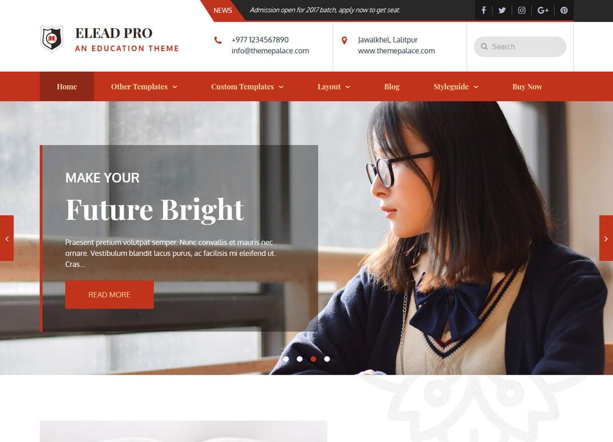 elead best free wordpress themes february - 21+ Best Free WordPress Themes February 2018