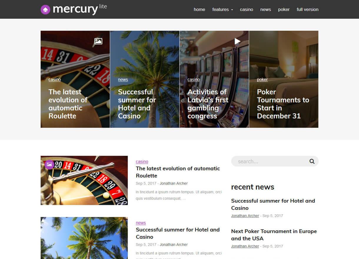 Mercury Lite-Best Free WordPress Themes February