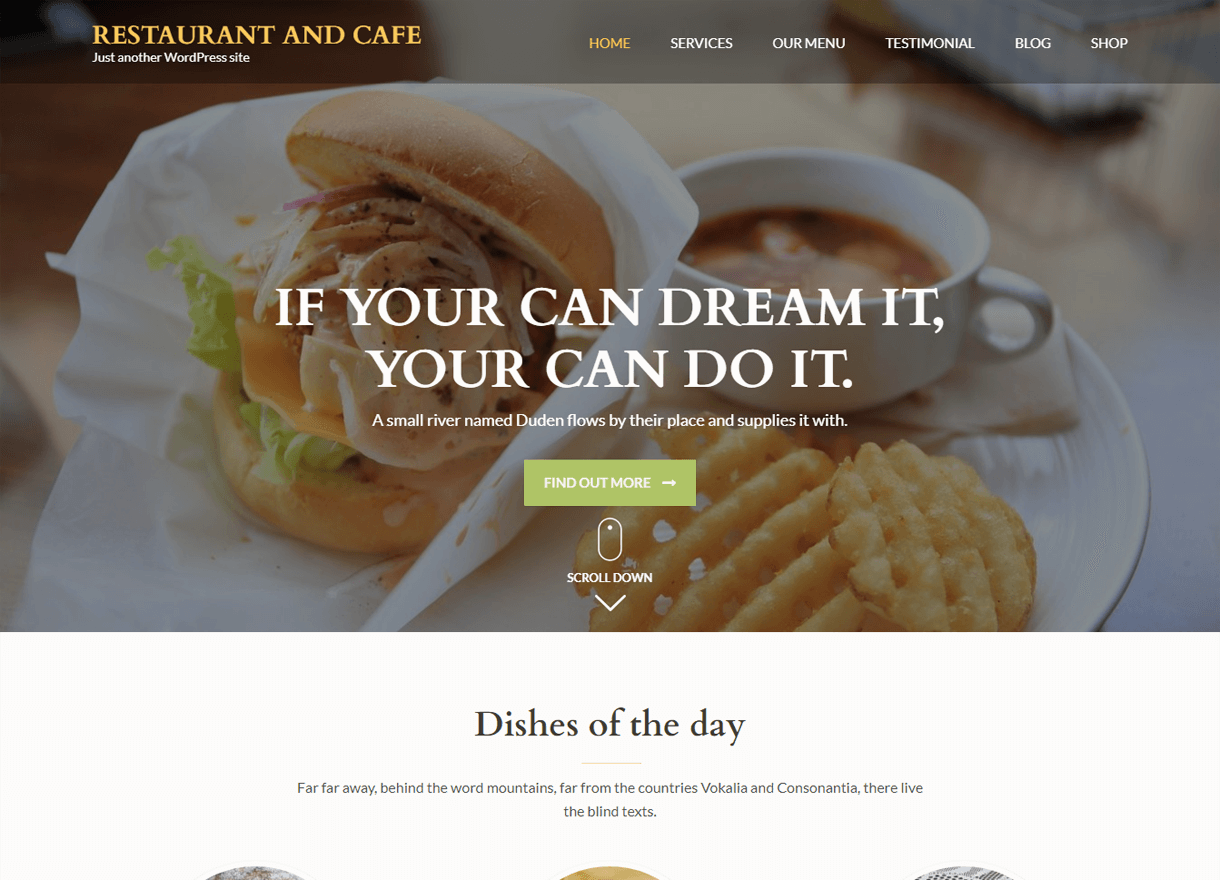 Restaurant and Cafe-Best Cafe and Restaurant WordPress Themes