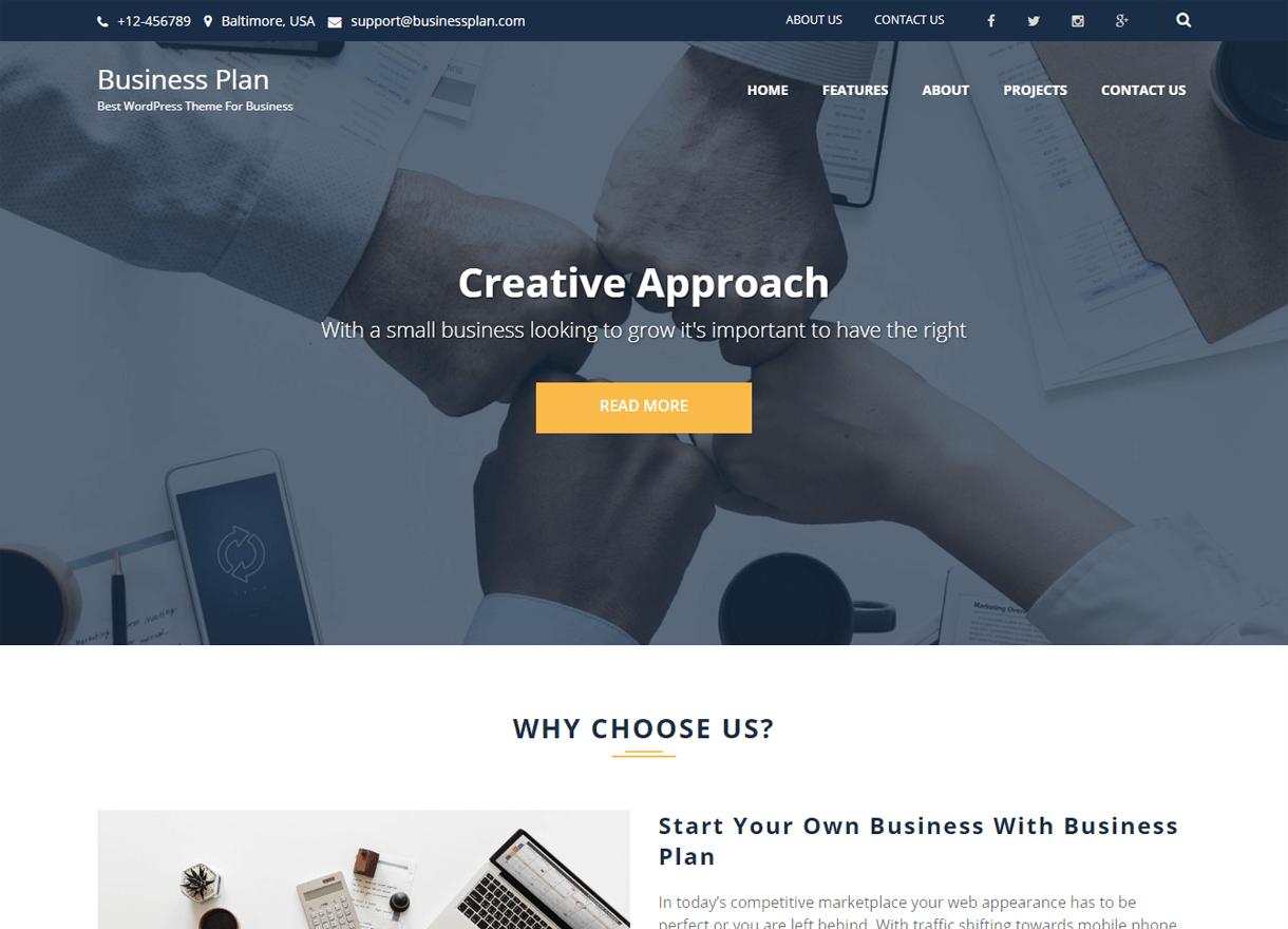 business plan best free wordpress themes april - 21+ Best Free WordPress Themes April 2018