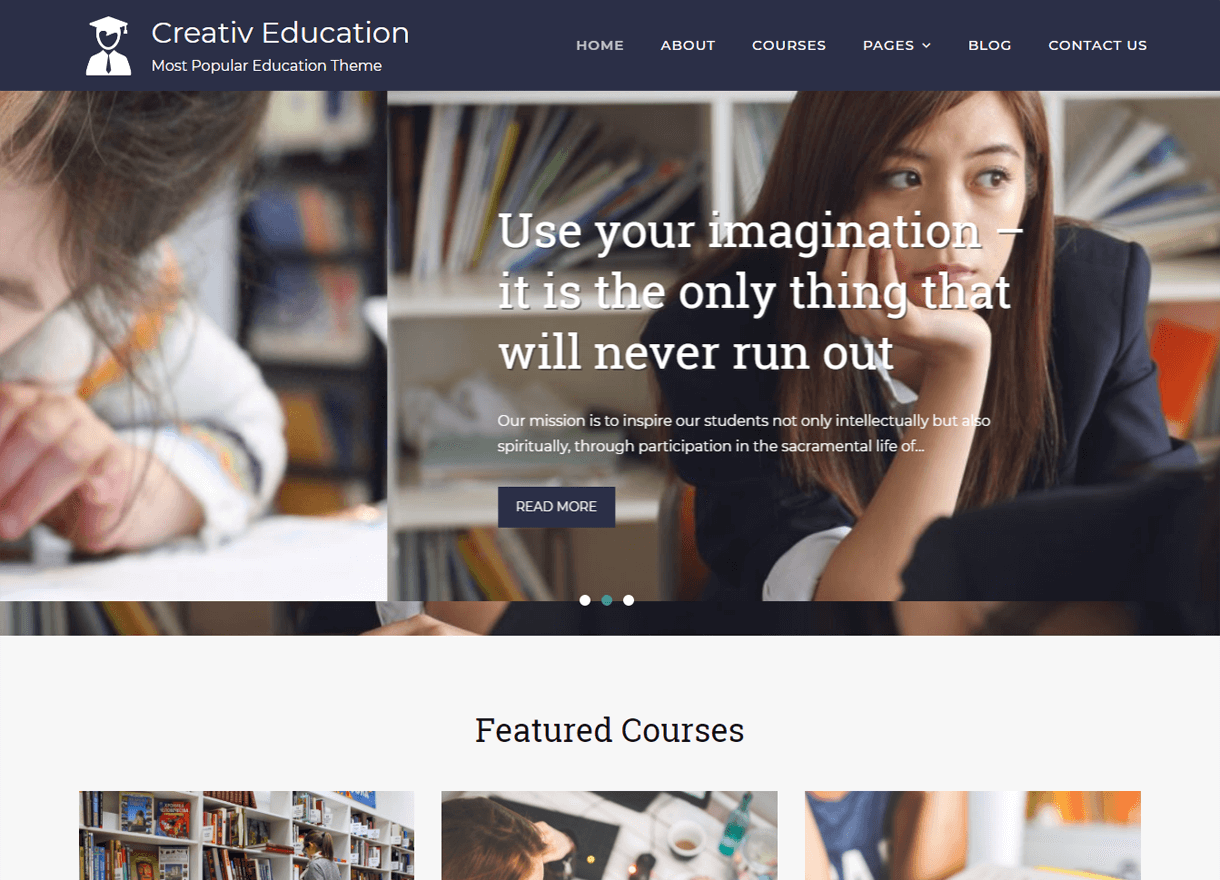 creativ education best free wordpress themes april - 21+ Best Free WordPress Themes April 2018