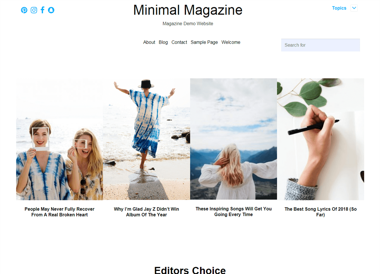 minimal magazine best free wordpress themes april - 21+ Best Free WordPress Themes April 2018