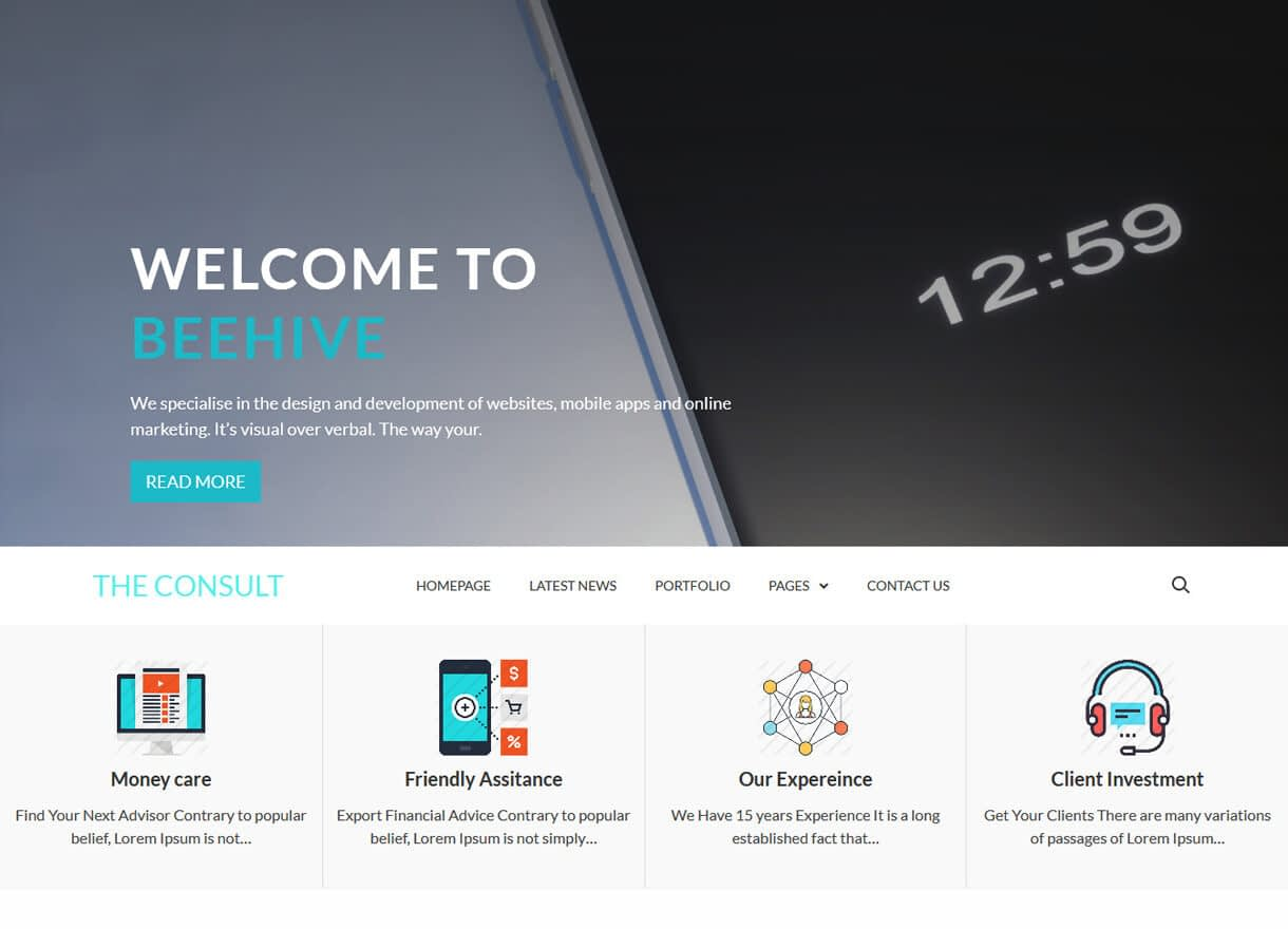 theconsult best free wordpress themes april - 21+ Best Free WordPress Themes April 2018