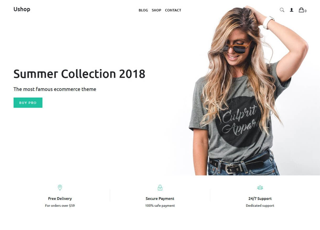 ushop best free wordpress themes april - 21+ Best Free WordPress Themes April 2018