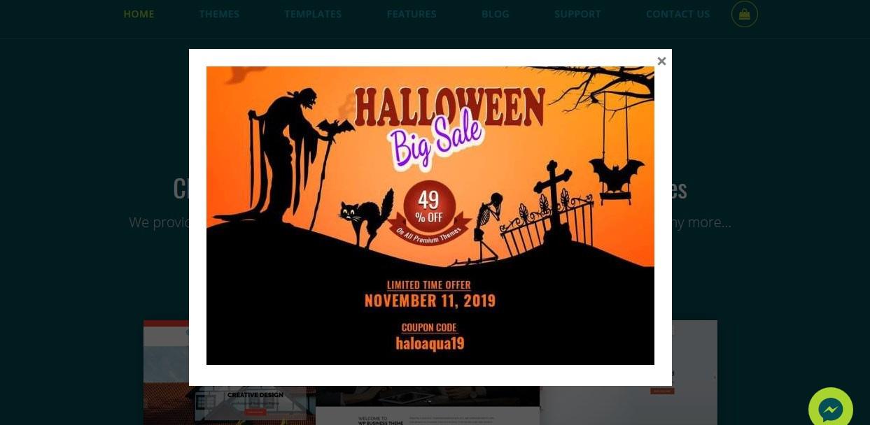 Aquarius Themes - Halloween Offer